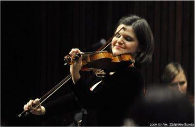 Malwina Sosnowski at the Bronislaw Hubermann Festival (Czestochowa, Poland)