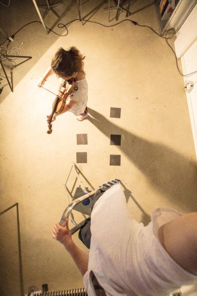 Geige Violinistin Violinist Malwina